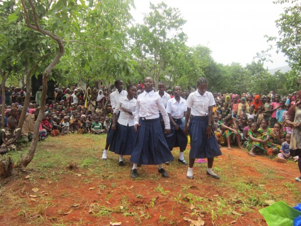 Amahoro Students Dancing
